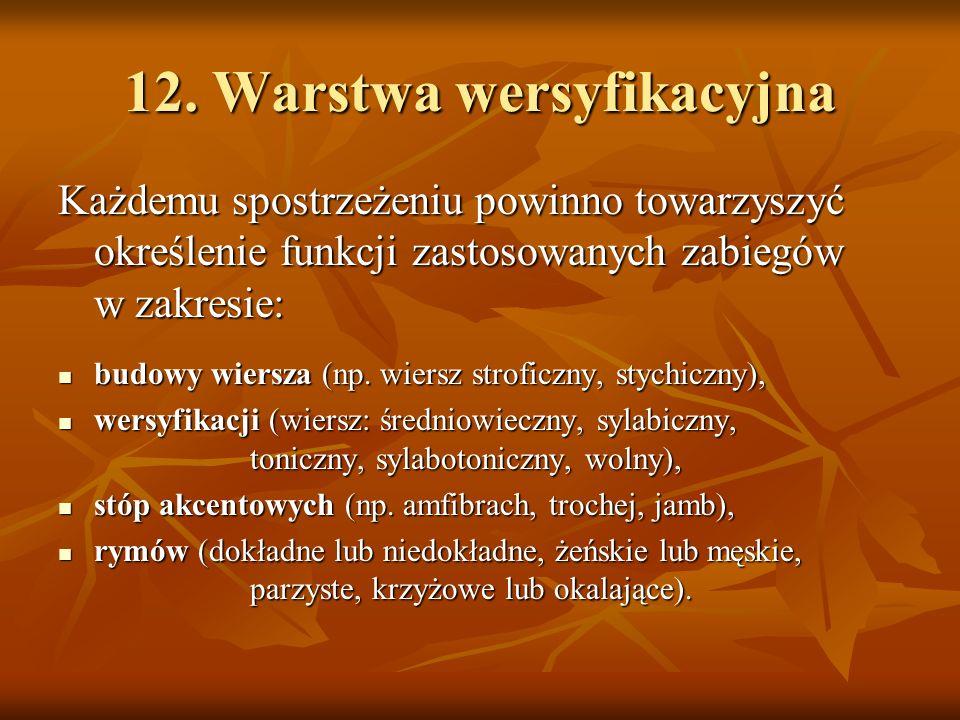 12. Warstwa wersyfikacyjna