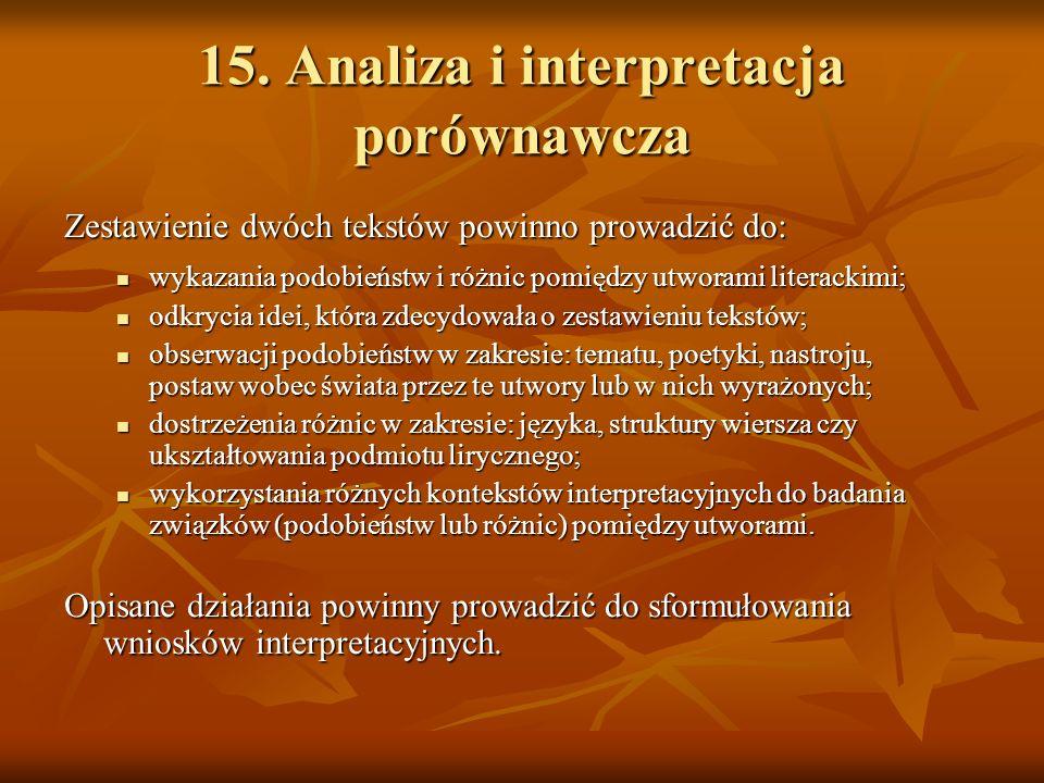15. Analiza i interpretacja porównawcza