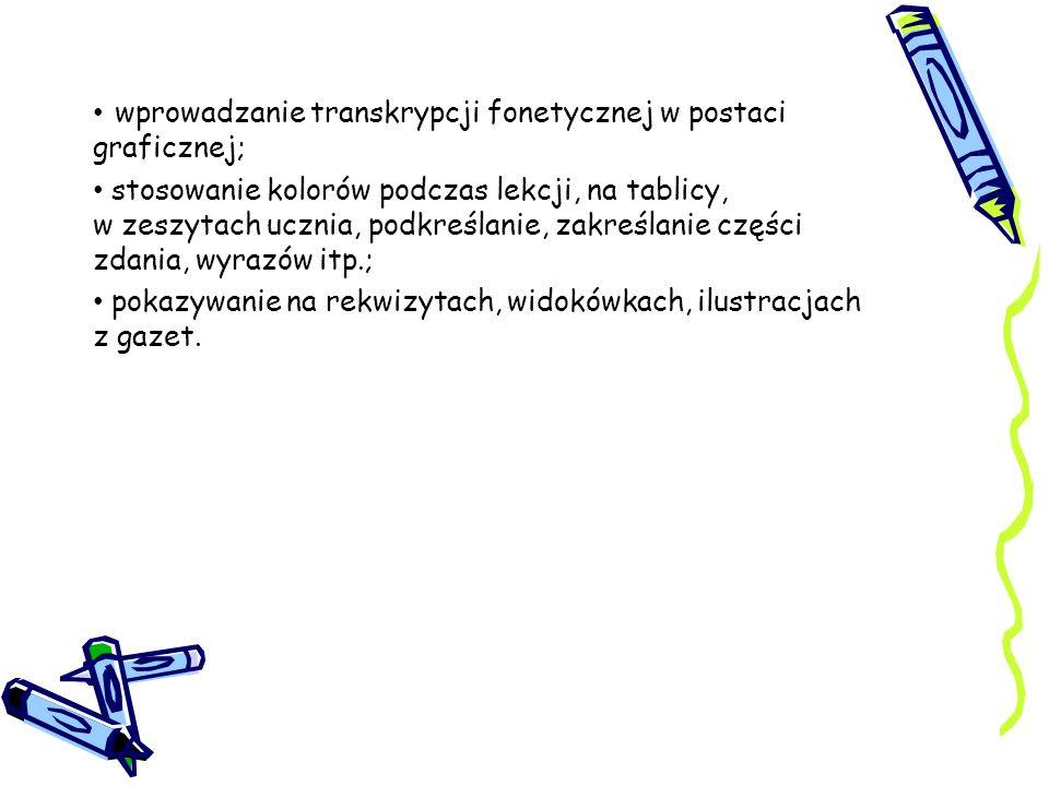 wprowadzanie transkrypcji fonetycznej w postaci graficznej;