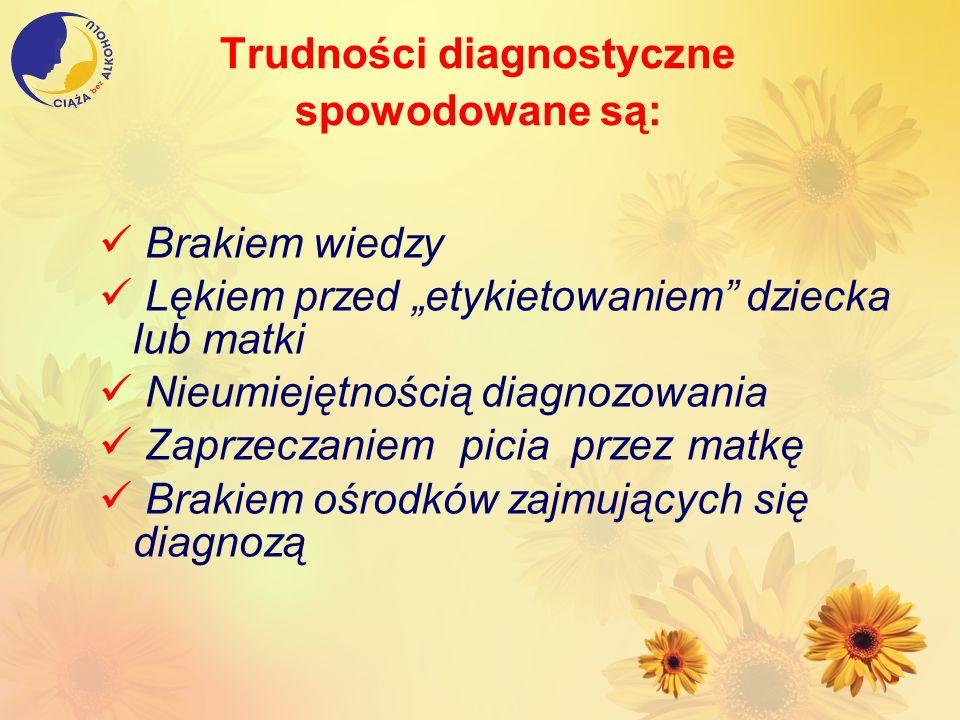 Trudności diagnostyczne spowodowane są: