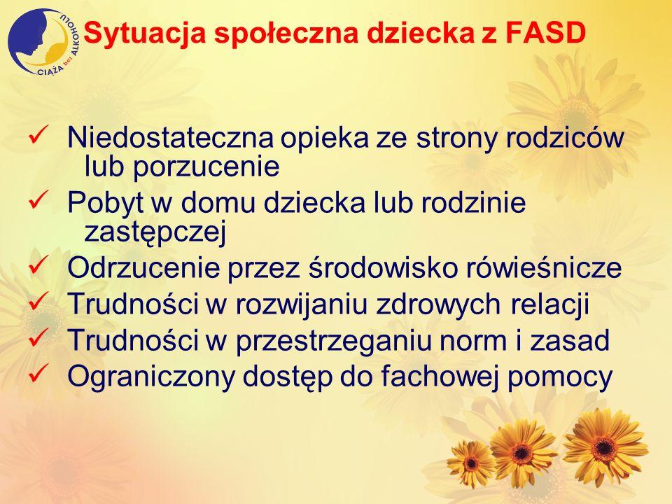 Sytuacja społeczna dziecka z FASD