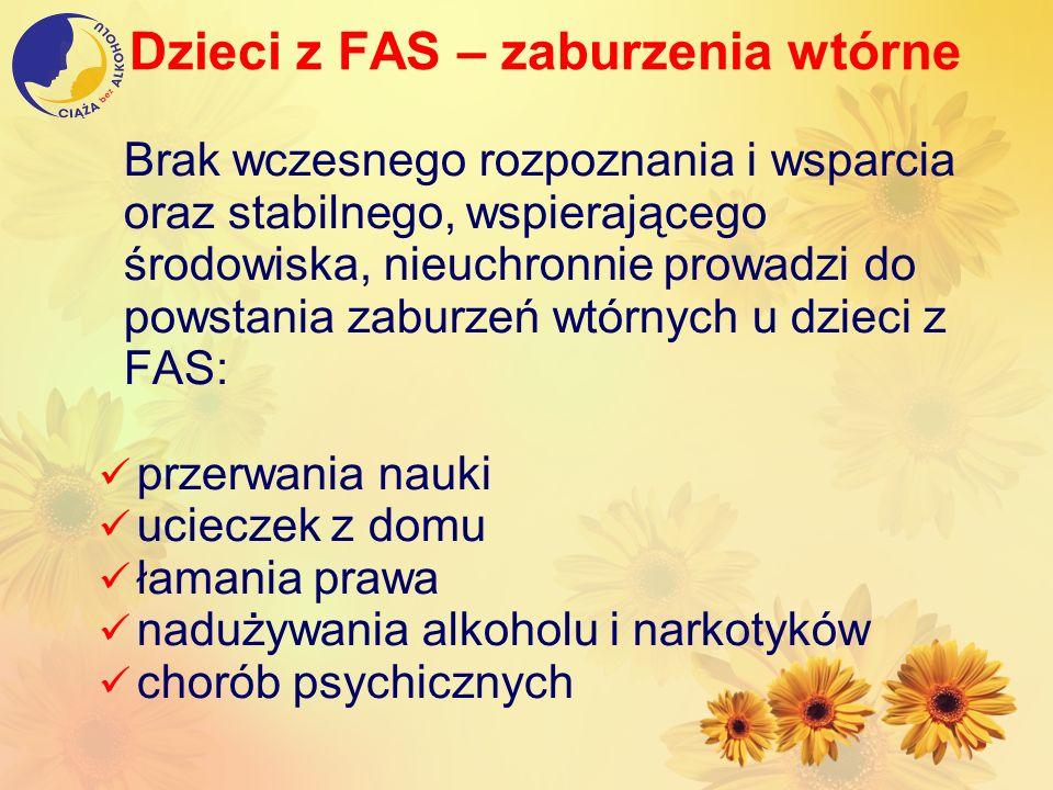 Dzieci z FAS – zaburzenia wtórne