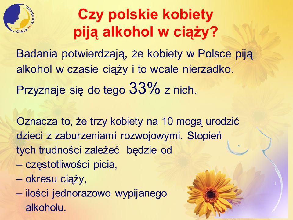 Czy polskie kobiety piją alkohol w ciąży