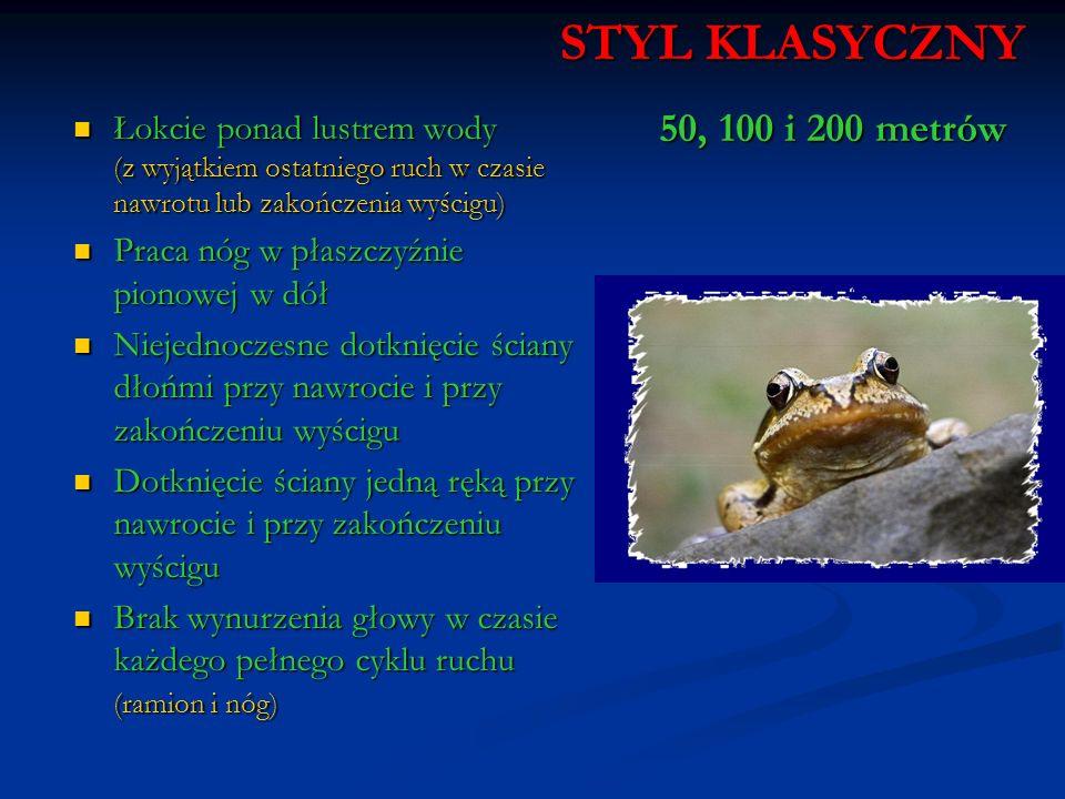 STYL KLASYCZNY 50, 100 i 200 metrów