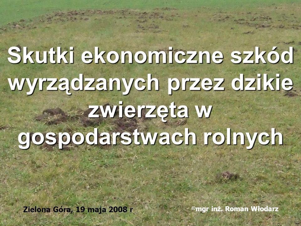 Skutki ekonomiczne szkód wyrządzanych przez dzikie zwierzęta w gospodarstwach rolnych