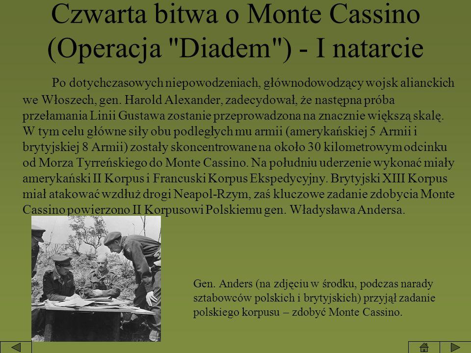 Czwarta bitwa o Monte Cassino (Operacja Diadem ) - I natarcie