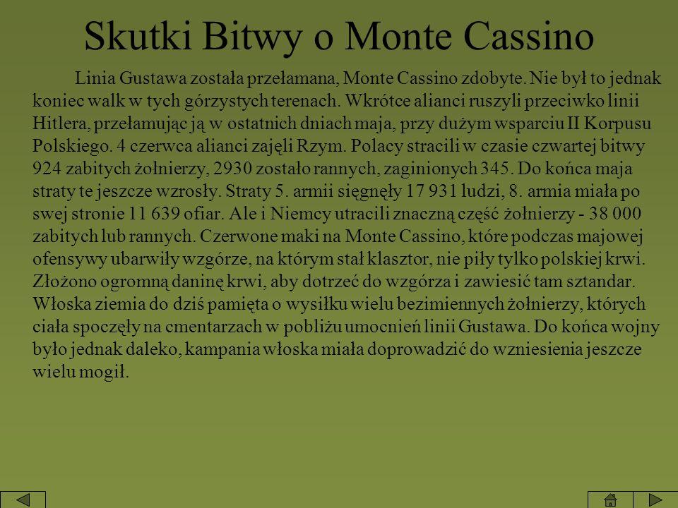 Skutki Bitwy o Monte Cassino