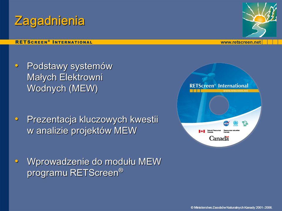 Zagadnienia Podstawy systemów Małych Elektrowni Wodnych (MEW)