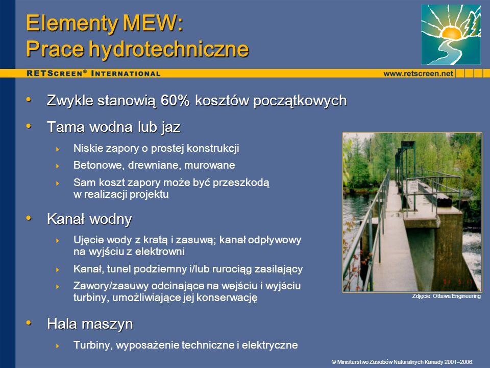 Elementy MEW: Prace hydrotechniczne