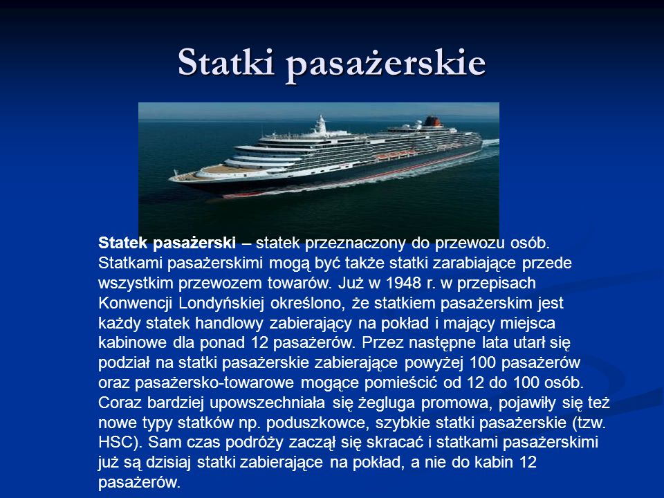 Statki pasażerskie