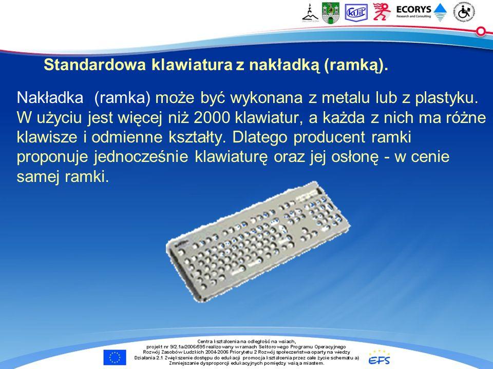 Standardowa klawiatura z nakładką (ramką).
