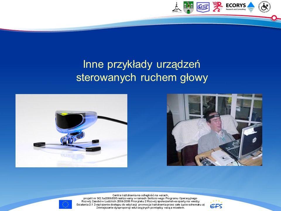 Inne przykłady urządzeń sterowanych ruchem głowy