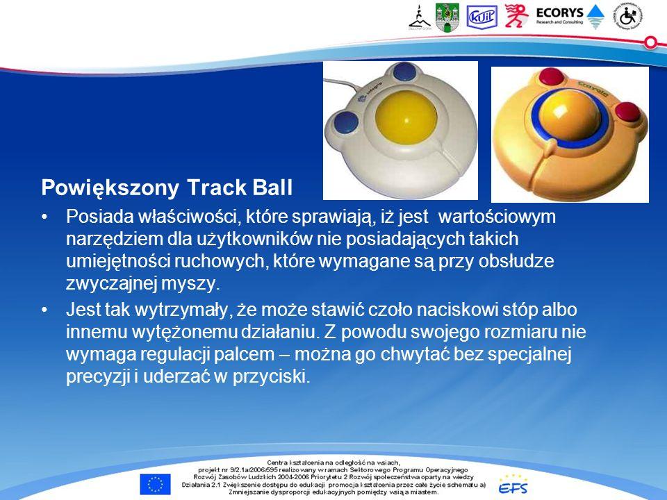 Powiększony Track Ball