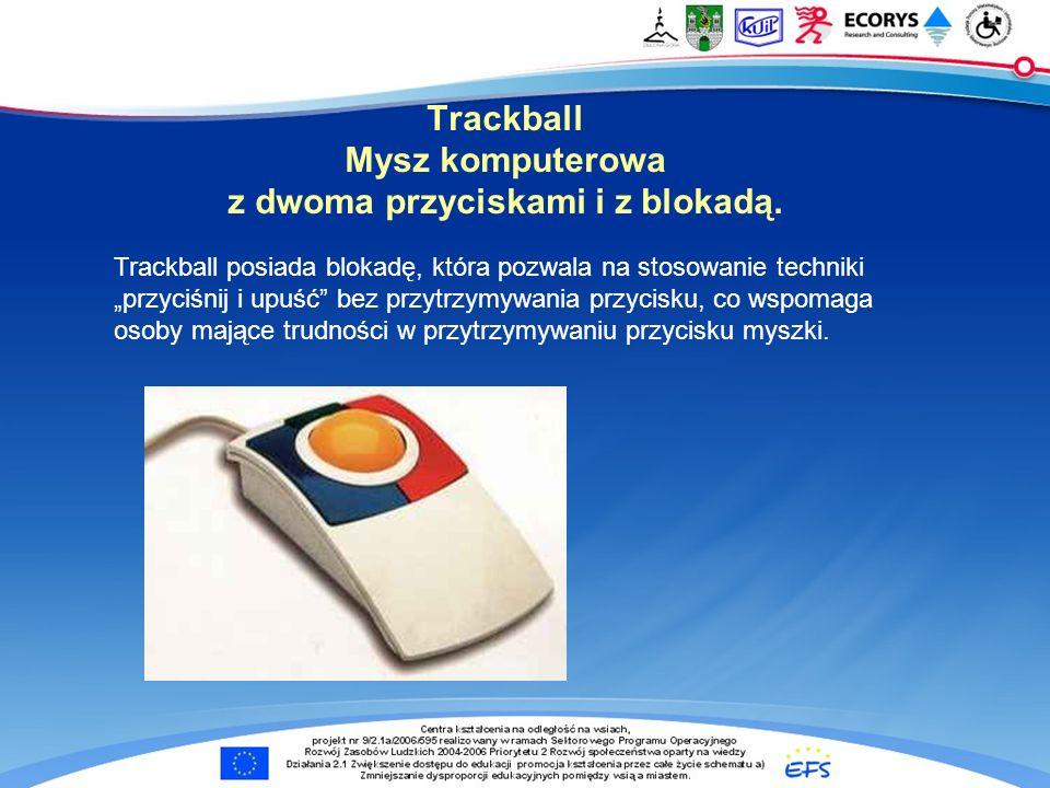 Trackball Mysz komputerowa z dwoma przyciskami i z blokadą.