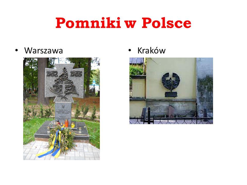 Pomniki w Polsce Warszawa Kraków