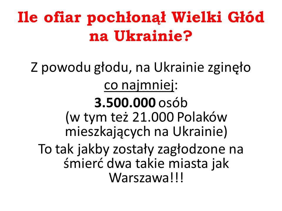 Ile ofiar pochłonął Wielki Głód na Ukrainie