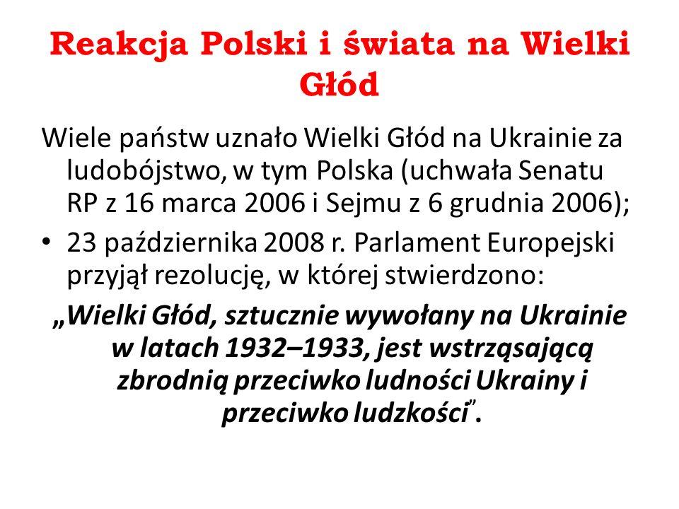 Reakcja Polski i świata na Wielki Głód