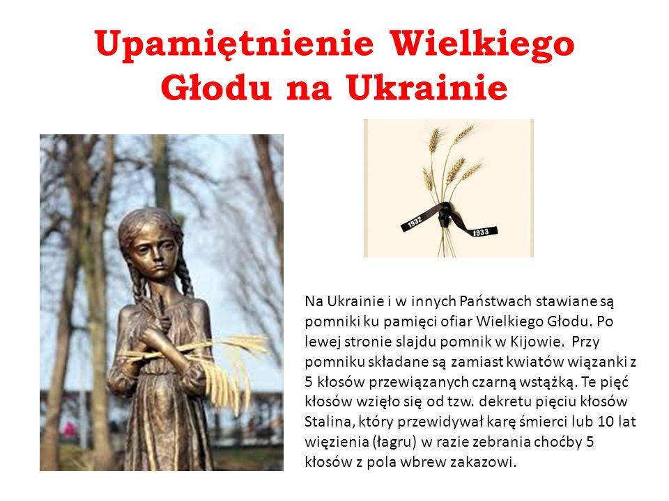 Upamiętnienie Wielkiego Głodu na Ukrainie