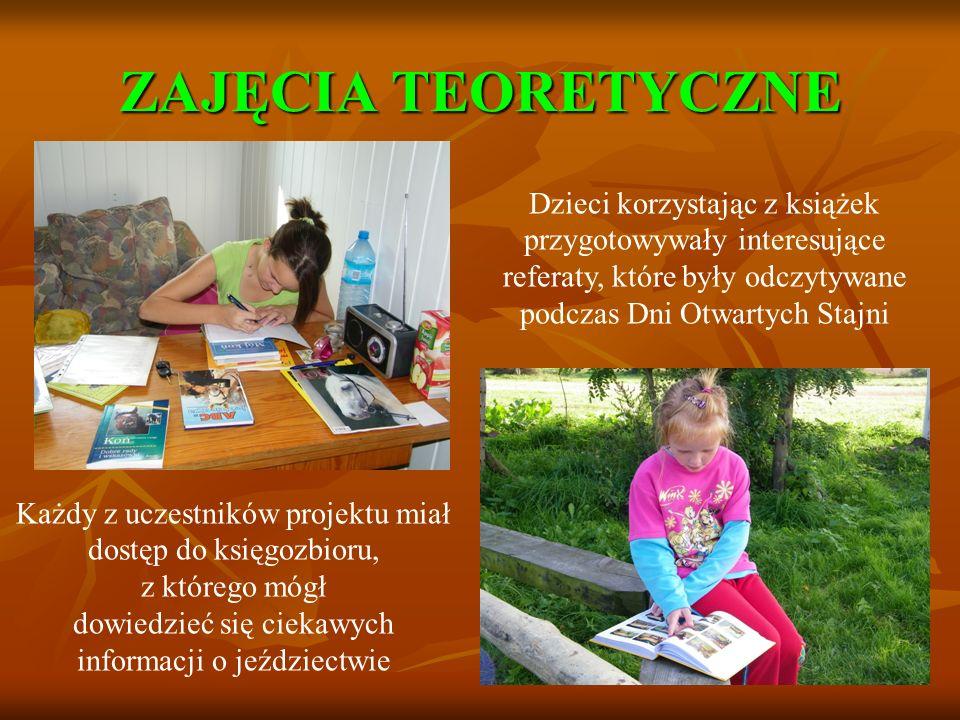 ZAJĘCIA TEORETYCZNE Dzieci korzystając z książek