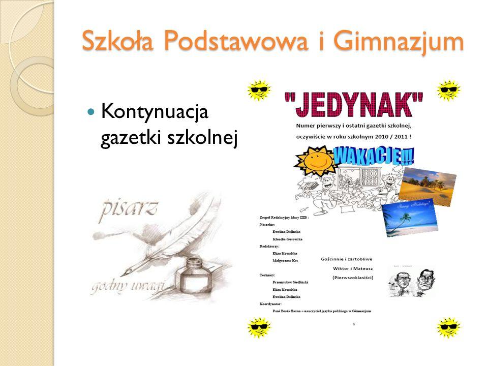 Szkoła Podstawowa i Gimnazjum