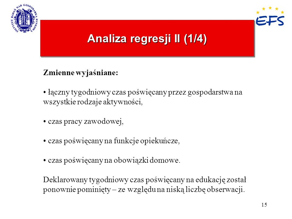 Analiza regresji II (1/4)