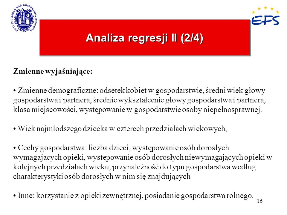 Analiza regresji II (2/4)