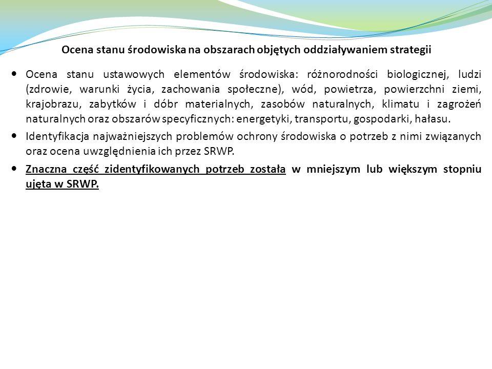 Ocena stanu środowiska na obszarach objętych oddziaływaniem strategii