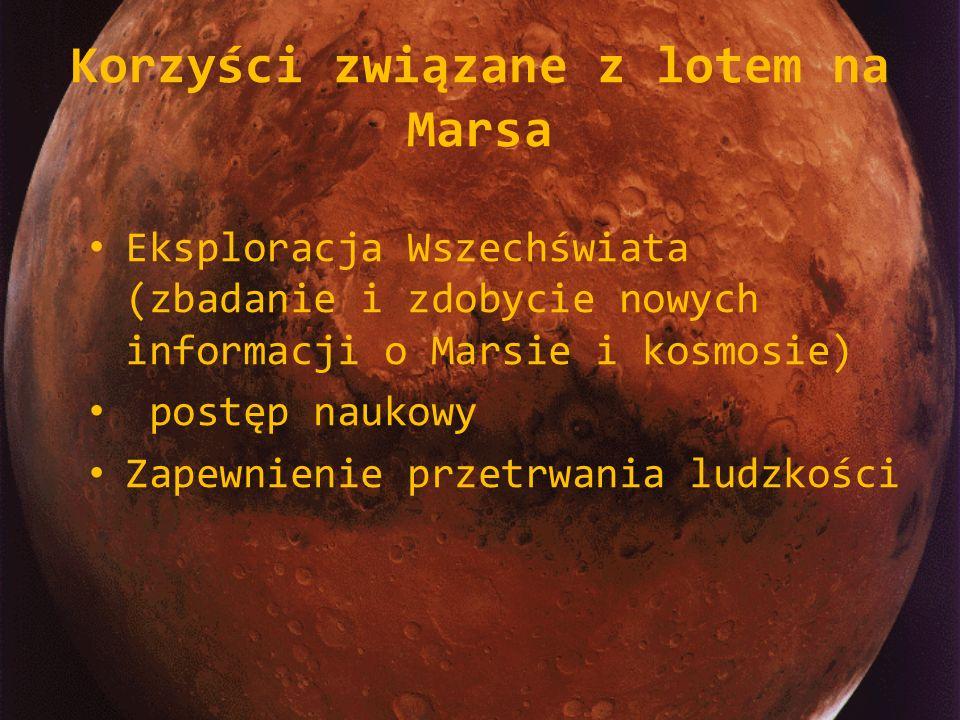 Korzyści związane z lotem na Marsa