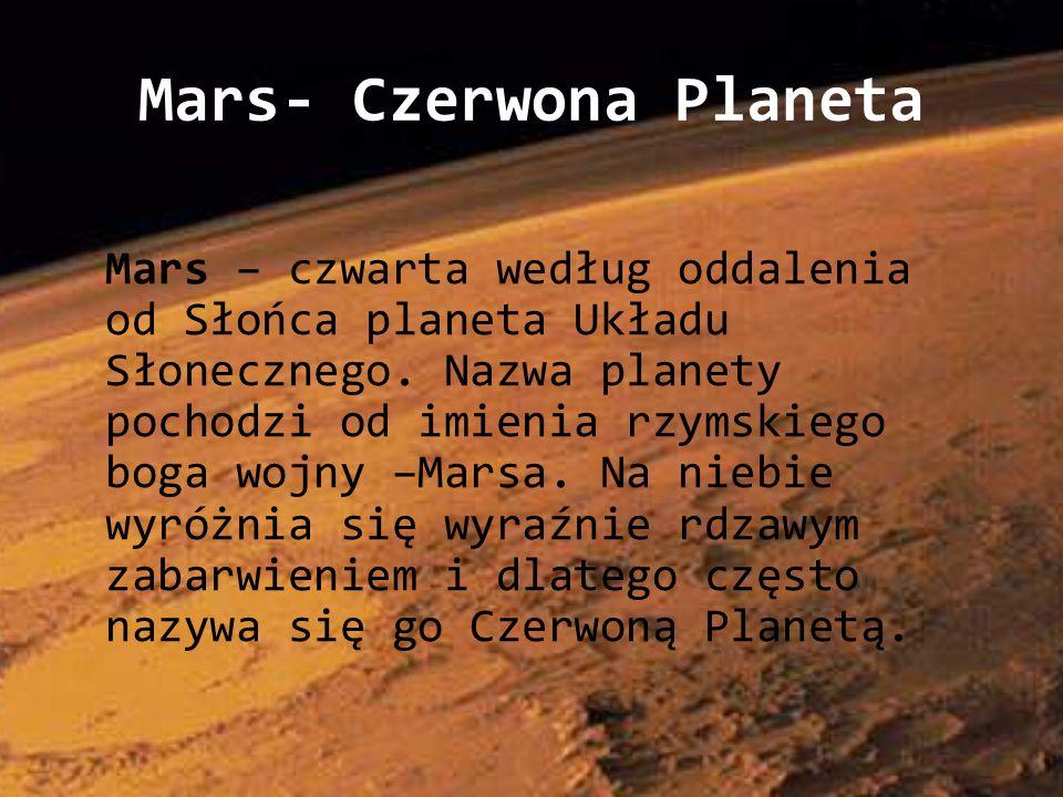 Mars- Czerwona Planeta