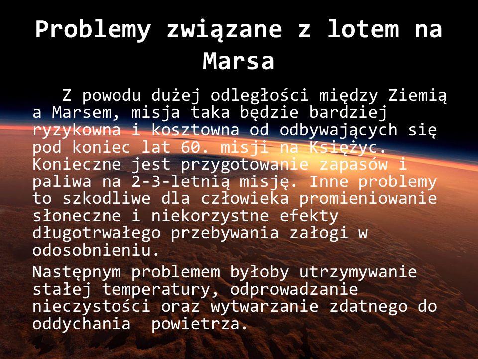Problemy związane z lotem na Marsa