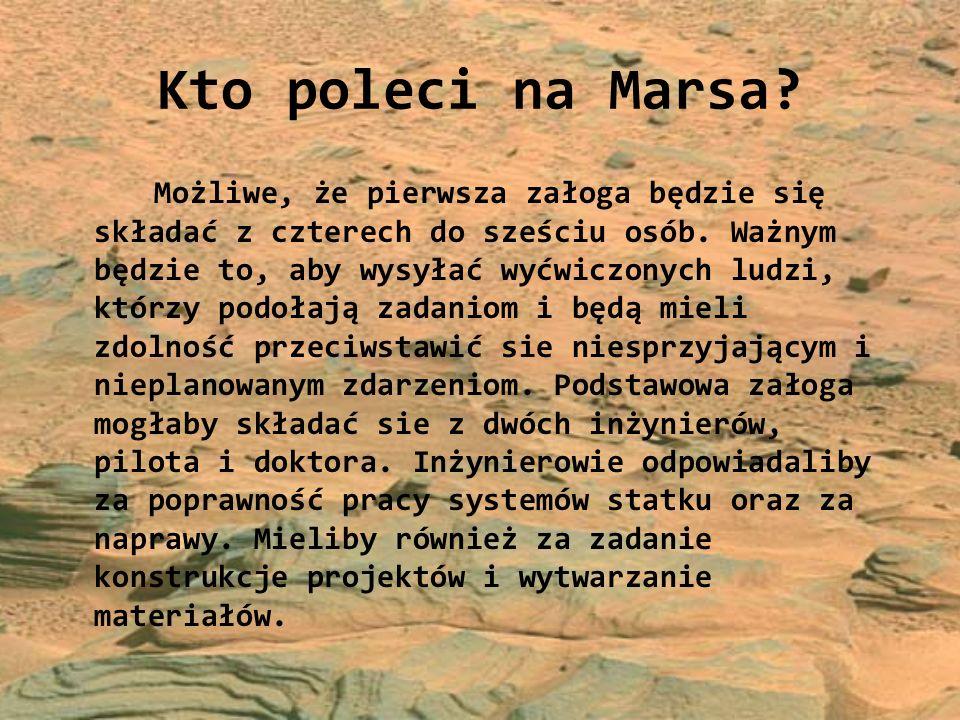 Kto poleci na Marsa