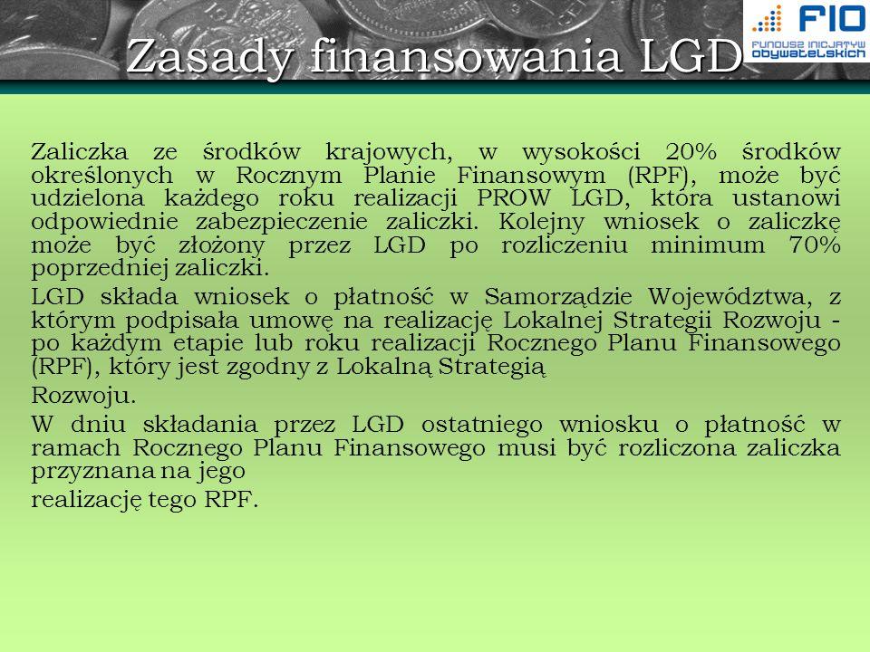 Zasady finansowania LGD