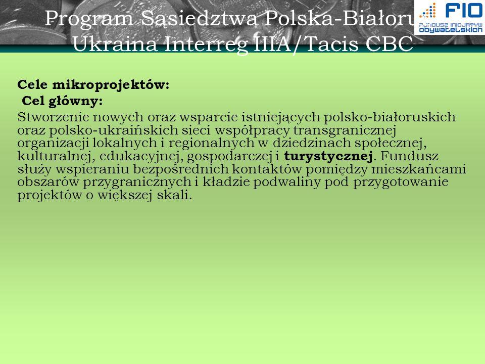 Program Sąsiedztwa Polska-Białoruś-Ukraina Interreg IIIA/Tacis CBC