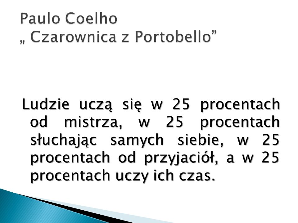 "Paulo Coelho "" Czarownica z Portobello"