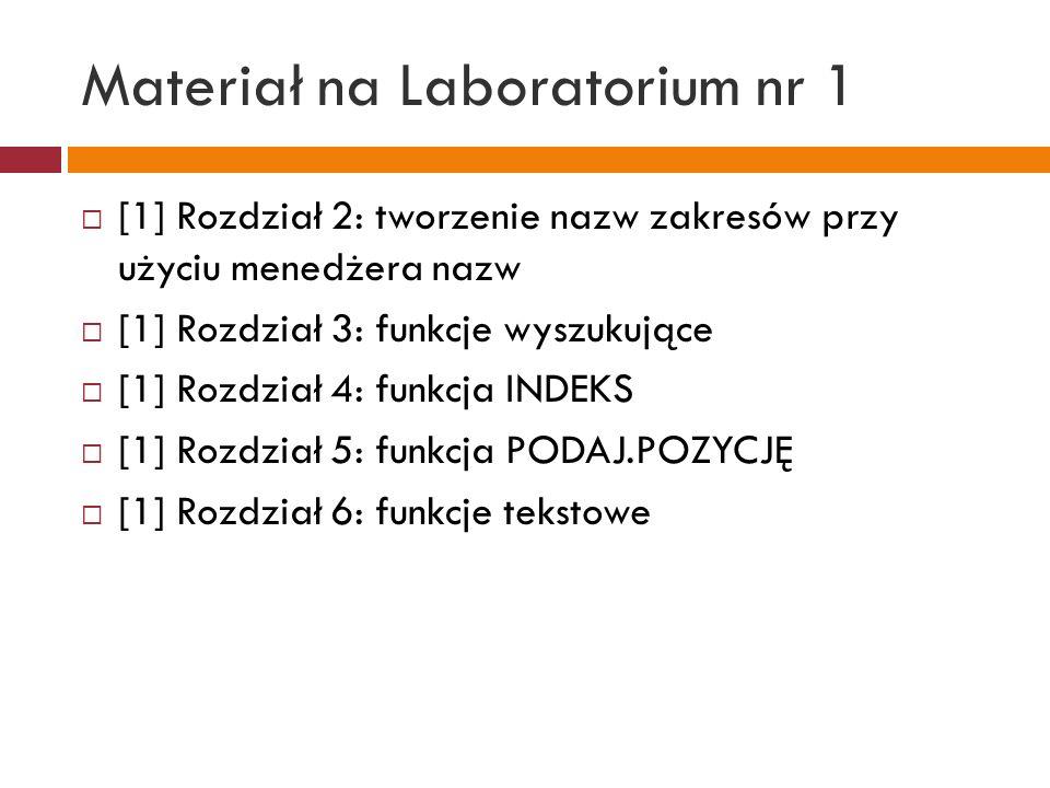Materiał na Laboratorium nr 1