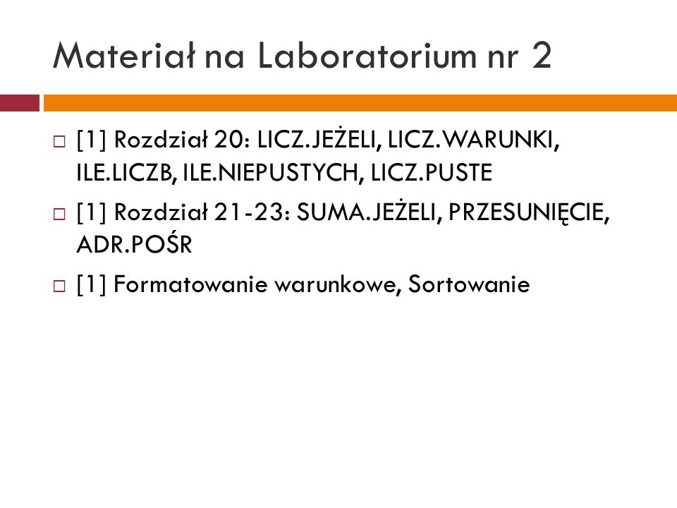 Materiał na Laboratorium nr 2