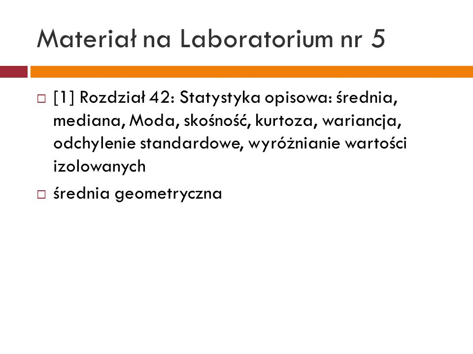 Materiał na Laboratorium nr 5