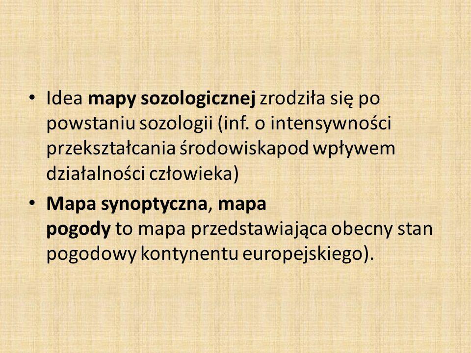 Idea mapy sozologicznej zrodziła się po powstaniu sozologii (inf