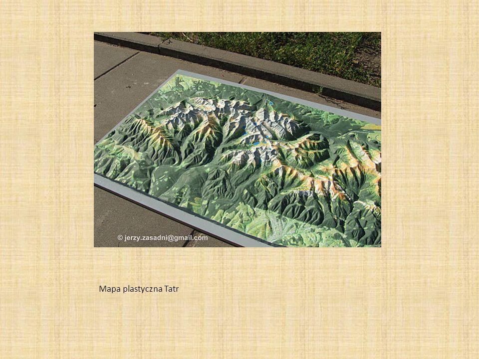 Mapa plastyczna Tatr