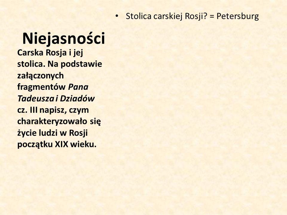Niejasności Stolica carskiej Rosji = Petersburg