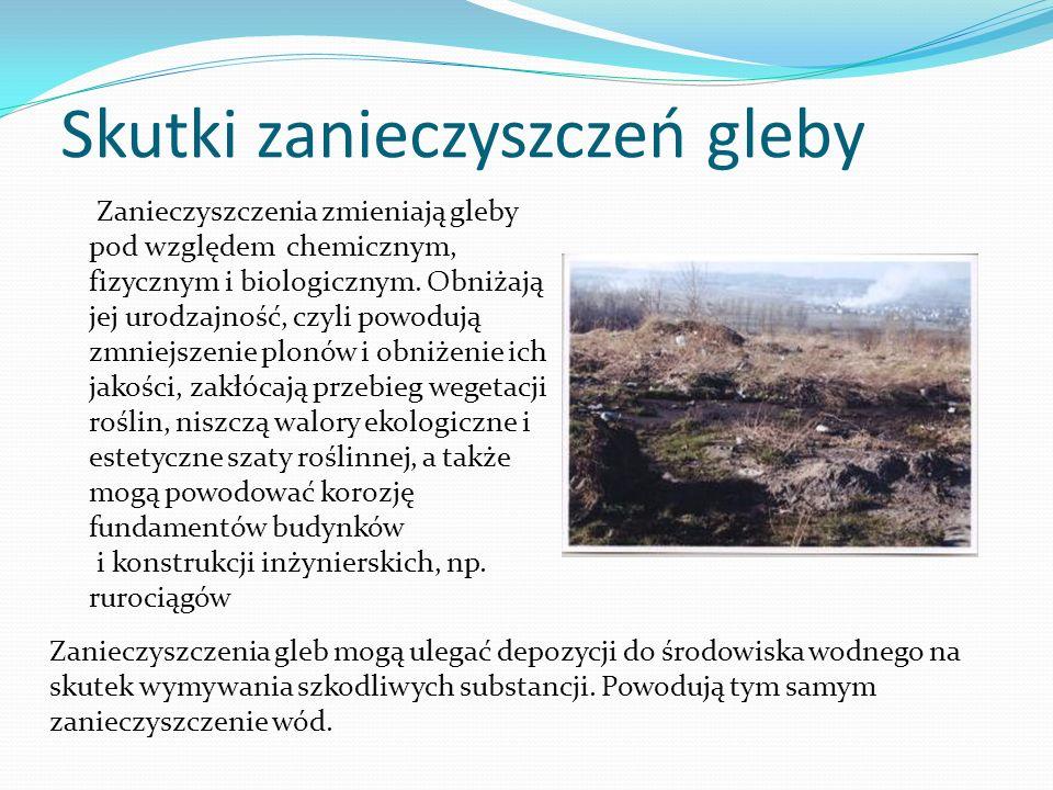 Skutki zanieczyszczeń gleby
