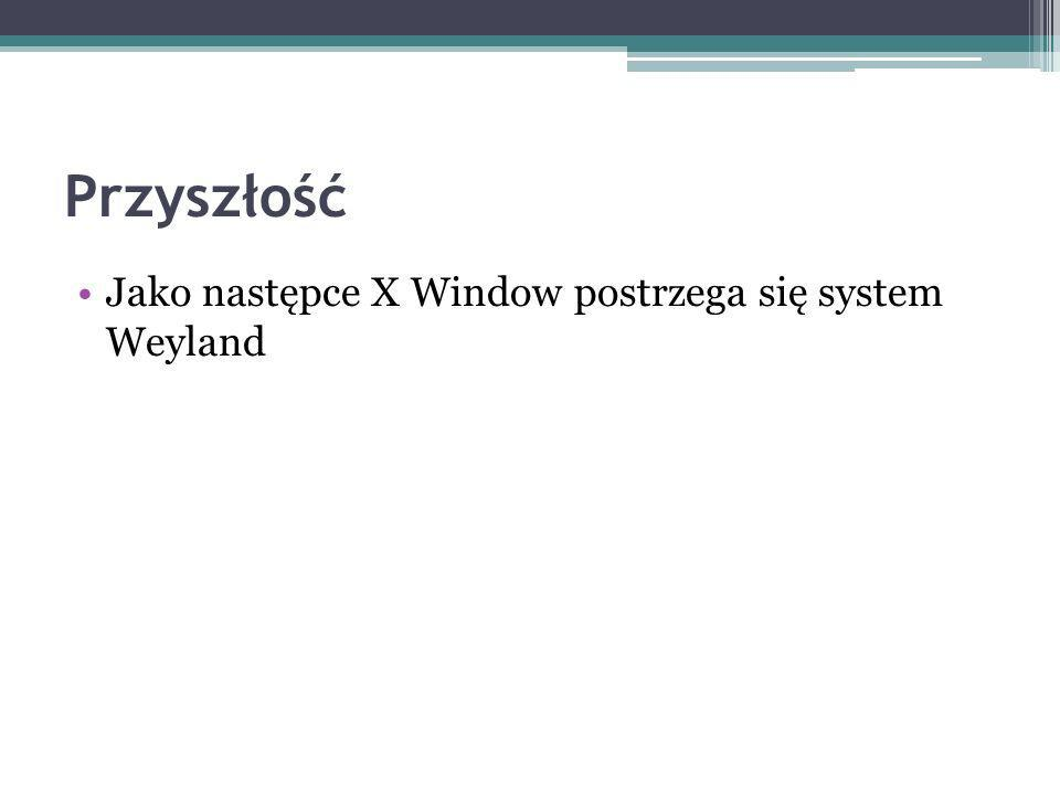 Przyszłość Jako następce X Window postrzega się system Weyland