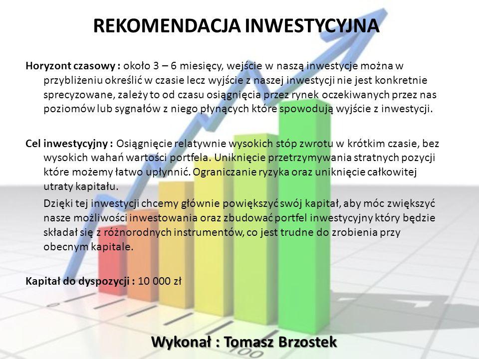 Wykonał : Tomasz Brzostek