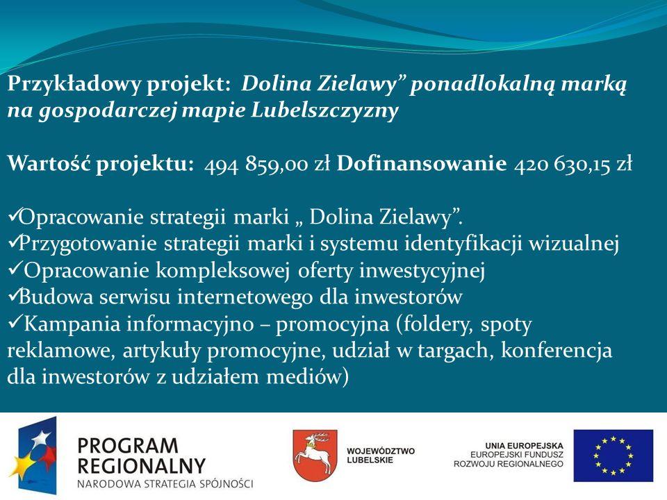 Przykładowy projekt: Dolina Zielawy ponadlokalną marką na gospodarczej mapie Lubelszczyzny