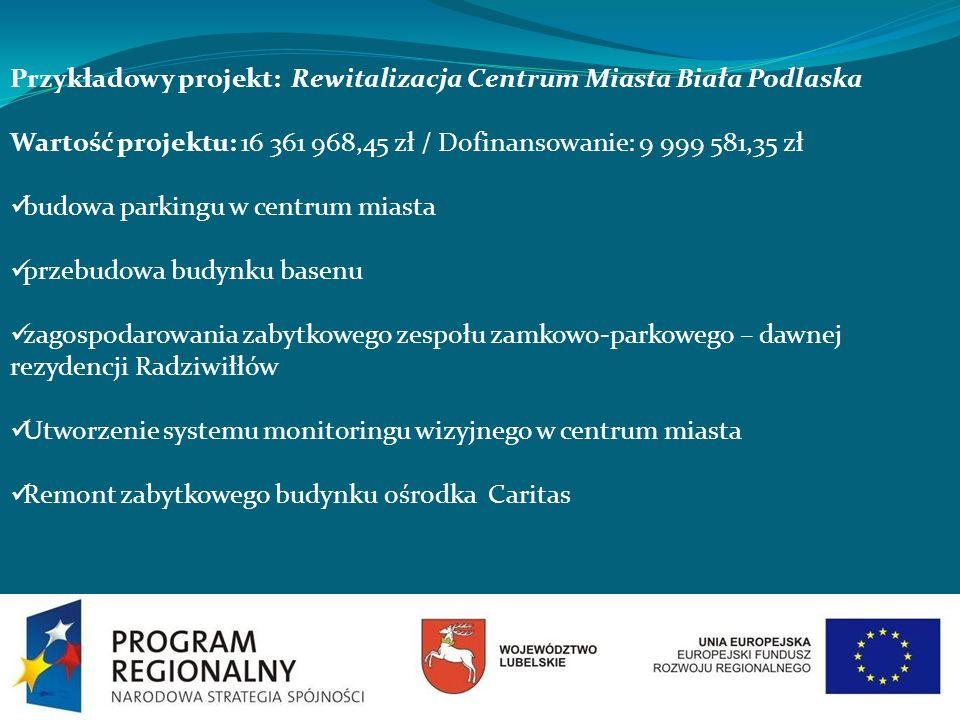 Przykładowy projekt: Rewitalizacja Centrum Miasta Biała Podlaska