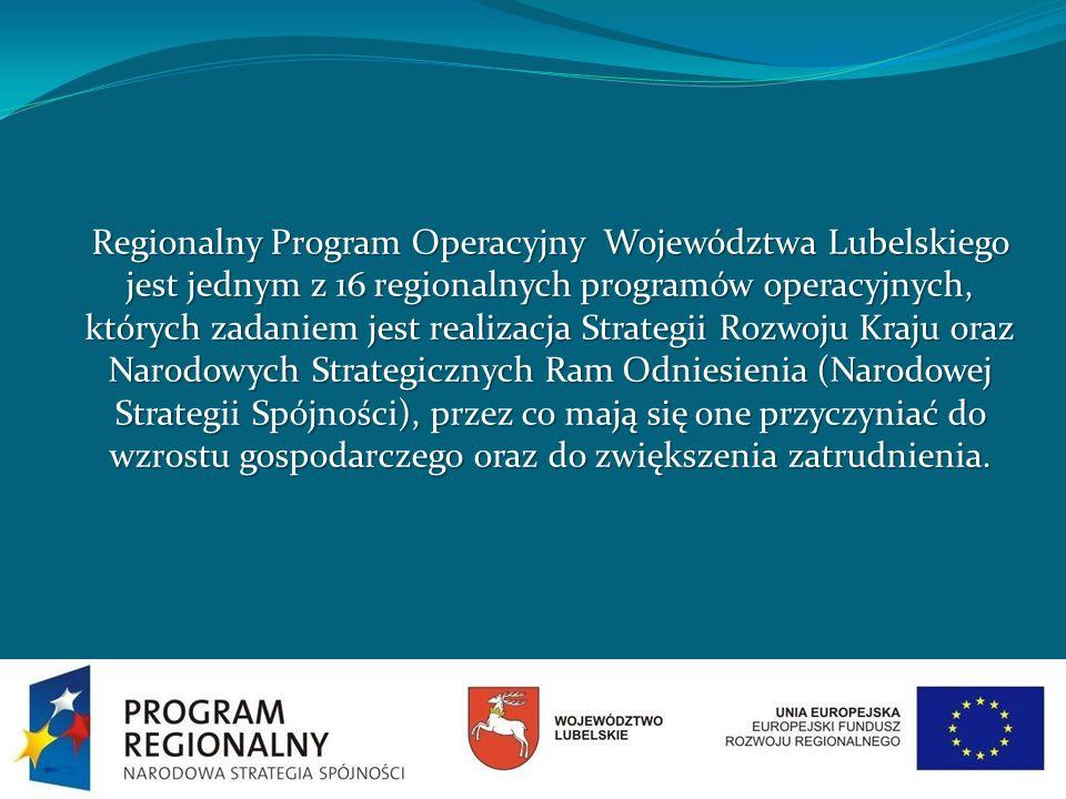 Regionalny Program Operacyjny Województwa Lubelskiego jest jednym z 16 regionalnych programów operacyjnych, których zadaniem jest realizacja Strategii Rozwoju Kraju oraz Narodowych Strategicznych Ram Odniesienia (Narodowej Strategii Spójności), przez co mają się one przyczyniać do wzrostu gospodarczego oraz do zwiększenia zatrudnienia.