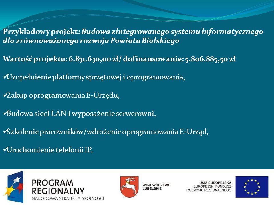 Przykładowy projekt: Budowa zintegrowanego systemu informatycznego dla zrównoważonego rozwoju Powiatu Bialskiego