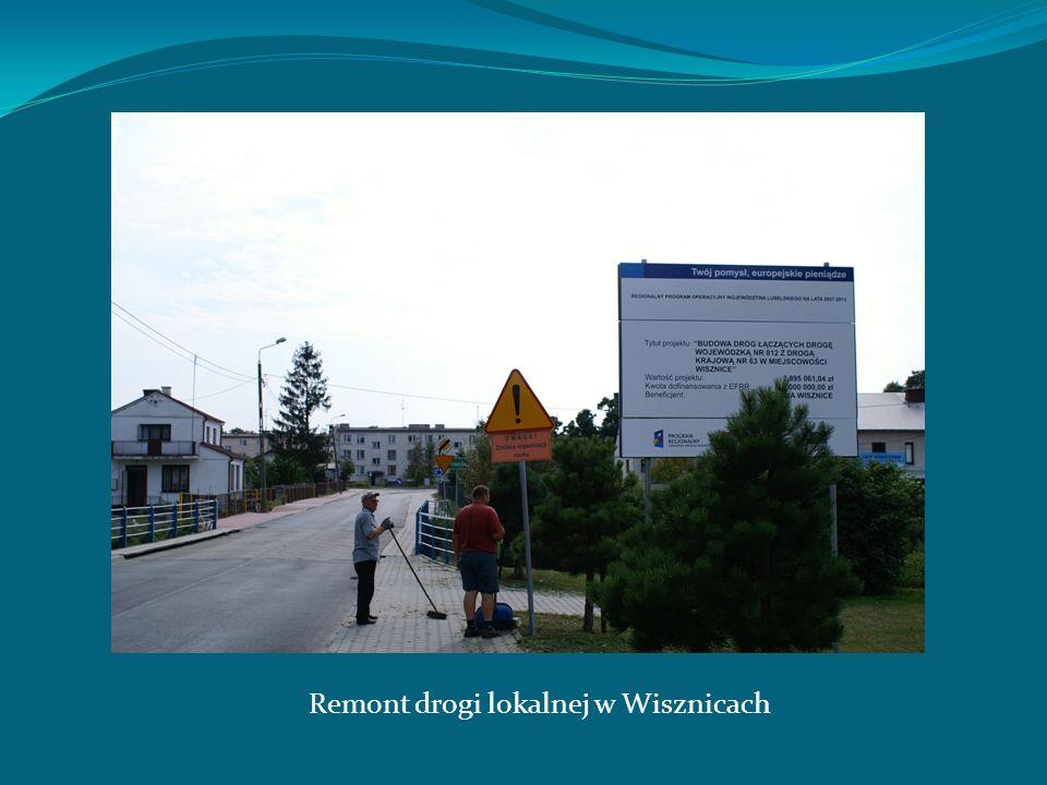 Remont drogi lokalnej w Wisznicach