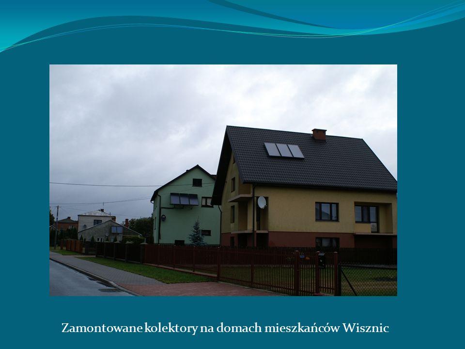 Zamontowane kolektory na domach mieszkańców Wisznic