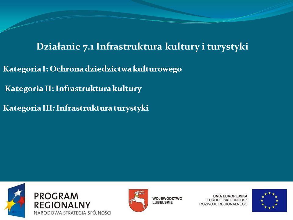 Działanie 7.1 Infrastruktura kultury i turystyki